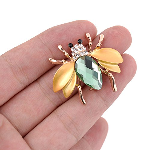 TAGOO Fashion Peacock Bird Swan Vintage Monkey Seahorse Dolphin Snoopy Animal Brooches Pins Corsages Scarf Clips in Crystal Unisex Women&Men