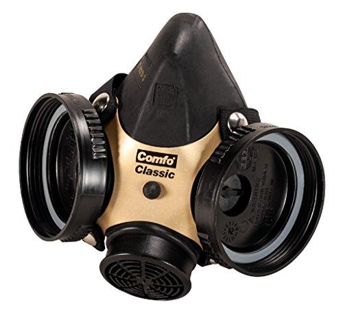 MSA 808073 Comfo Classic Soft Feel Silicone Half-Mask Facepiece Respirator, Large, Black