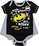 Justice League Baby Boys' Bodysuit and Cape - Batman - Superman and The Flash