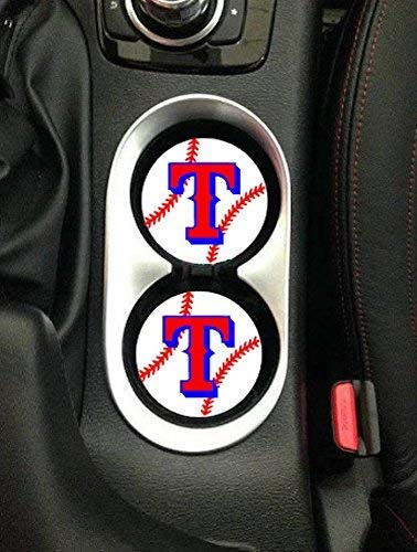 Texas Rangers Sandstone Car Coasters