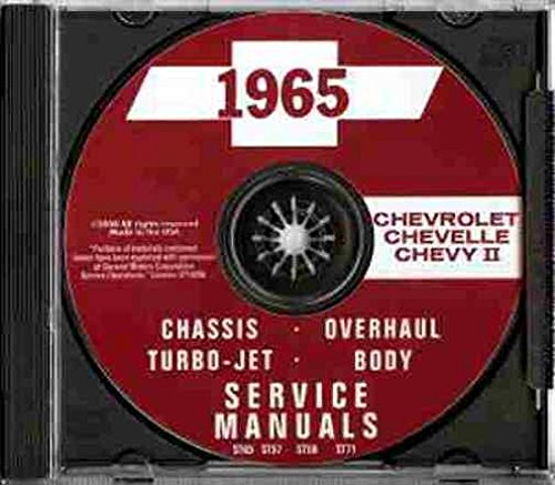 1965 CHEVROLET REPAIR SHOP & SERVICE MANUAL - INCLUDES: Caprice, Impala, Bel Air, Biscayne, Chevelle, Malibu, SS, El Camino, Chevy II and Nova, including station wagon and convertible models. CHEVY - Chevy 1965 Nova