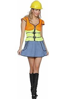 Kostum Kleid Baustelle Grosse 40 42 Damen Sexy Bauarbeiterin