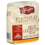 Billington's Natural Milled Golden Cane Sugar, 16-Ounce Bags (Pack of 10)