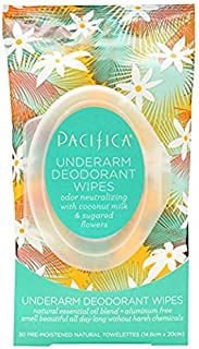product image for Pacifica Underarm Deodorant Wipes, Coconut Milk & Sugared Flowers, 240 Count