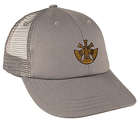 Assistant Chief Embroidery Design Low Crown Mesh Golf Snapback Hat Grey (Chief Head Snapback)