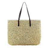 eronde Women Classic Straw Woven Summer Beach Sea Shoulder Bag Handbag Tote