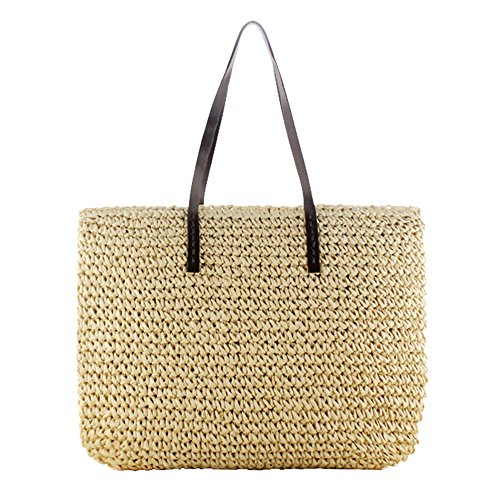 eronde Women Classic Straw Woven Summer Beach Sea Shoulder Bag Handbag Tote by eronde (Image #1)