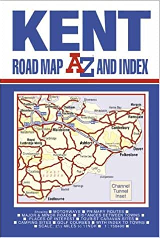 Kent Road Map (A-Z Road Maps & Atlases): 9780850397659 ...