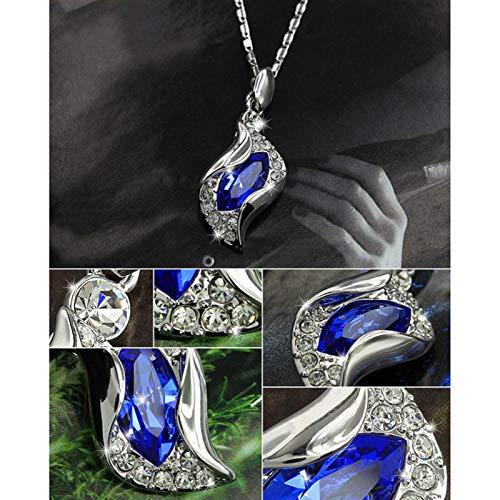Joyfeel buy Collar de mujer Pulsera Pendientes Joyas de plata Colgante de cristal Joyas de boda