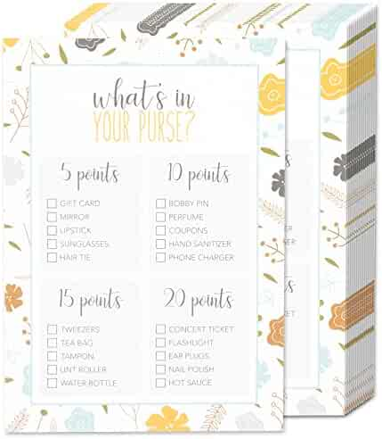 50 Baby Shower Game Sheets