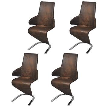 Vidaxl 4x Freischwinger Esszimmerstühle Schwingstuhl Z Stuhl