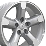 2012 dodge ram 1500 rims - 20x9 Wheel Fits Dodge, RAM Trucks - RAM 1500 Style Silver Rim w/Mach'd Face, Hollander 2267