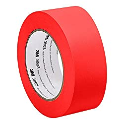 "3M Red Vinyl/Rubber Adhesive Duct Tape 3903, 3-50-3903-RED 12.6 psi Tensile Strength, 50 yd. length, 3"" width"