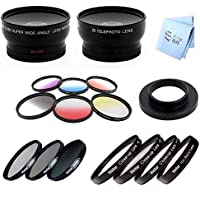 SAVEon Fits GoPro Hero 4 Wide and Tele W/Filter Kit, Color Kit and Macro Kit 37MM