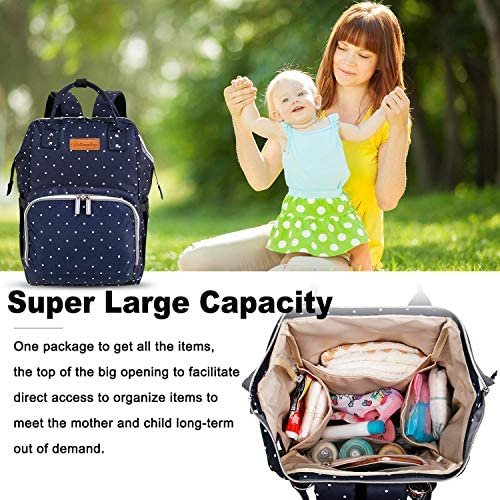 5100aXbUg0L. AC - EssFeeni Diaper Bag Backpack For Women Large Maternity Mommy Bag Waterproof Baby Nappy Bags For Travel