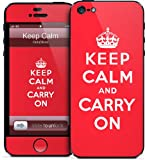 GelaSkins iPh5-KeepC GelaSkins for iPhone 5 - 1 Pack - Retail Packaging - Keep Calm