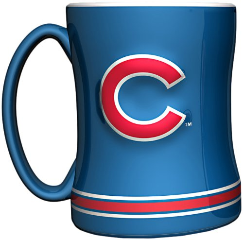 - MLB Chicago Cubs 14-Ounce Sculpted Relief Mug