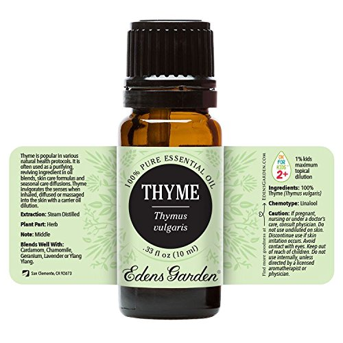 Edens Garden Thyme 10 ml 100% Pure Undiluted Therapeutic Grade Essential Oil GC/MS Tested - incensecentral.us