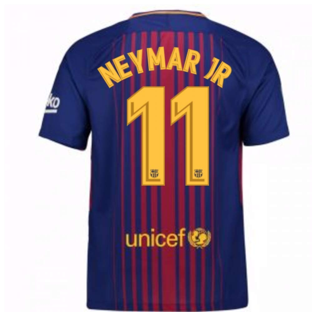2017-2018 Barcelona Home Football Soccer T-Shirt Trikot (Neymar JR 11) - Kids