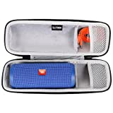 LTGEM EVA Hard Case Travel Carrying Storage Bag for JBL-Flip 3 or JBL Flip 4 Wireless Bluetooth Portable Speaker. Fits USB Cable and Wall Charger.