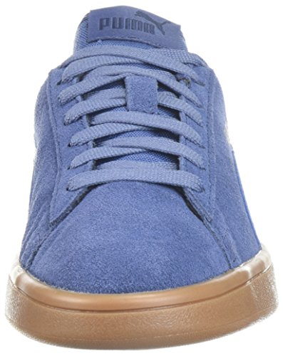 PUMA Unisex-Kids Smash v2 SD Sneaker, Blue Indigo-Blue Indigo-Peacoat, 5 M US Big Kid by PUMA (Image #4)