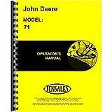 New John Deere 71 Attachment Operator's Manual (#71 Corn Sheller)