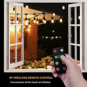Newpow Wireless Remote Control Plug-In Dimmer, 150W Power Max, 100Ft Max Range for Outdoor/Indoor Led String Lights, Led Dimmable Bulbs, ETL Listed