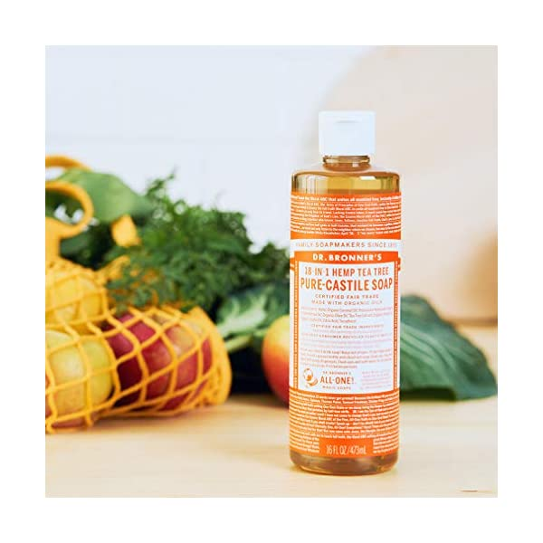 Dr Bronner Organic Tea Tree Castile Liquid Soap 473 ml