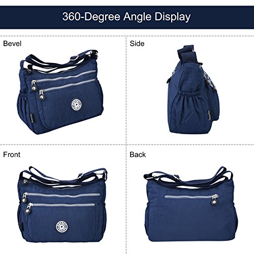 Vbiger Shoulder Bag Ladies Multi-Function 3Way Seat Angle Nylon Accessori Jp F/S