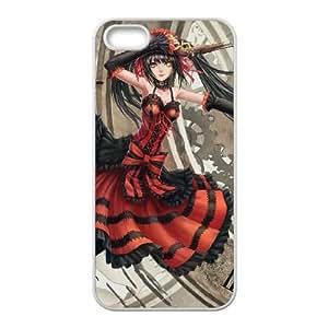 Funda iPhone 4 4s caso funda de teléfono celular blanco Kurumi tokisaki S2E8NU