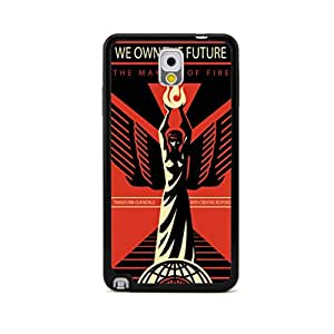 New - We Own the Future Obey Flower Embossed Design Black Bumper Plastic+TPU Case Cover for Samsung Galaxy Note III 3 N9000