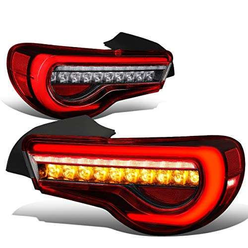 DNA Motoring TL-LED-3D-FRS-RD 3D LED Light Bar+Sequential Turn Signal Tail Lamps (Red)