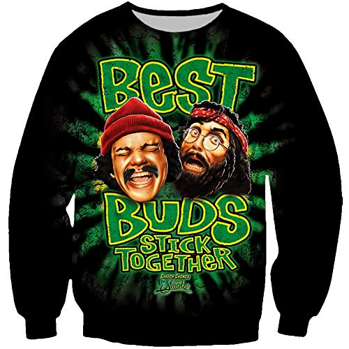 Beckshop Good Buds Stick Together Cannabis Weed Leaf Buddies Sweatshirt (Best Buds Stick Together Shirt)