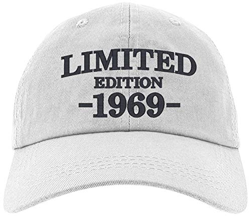 - Cap 1969-50th Birthday Gifts, Limited Edition All Original Parts Baseball Hat 1969-EM-0004-White