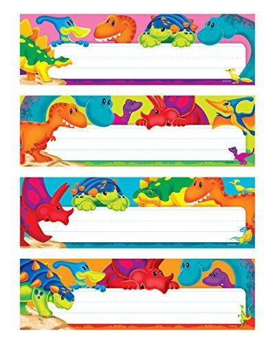 TREND enterprises, Inc. Dino-Mite Pals Desk Toppers Name Plates Var. Pk., 32 ct (Nameplate Single)