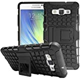 Defender Tough Hybrid Armour Shockproof Hard PC + TPU with Kick Stand Rugged Back Case Cover for Samsung Galaxy A5 , A500F (2015) - Black