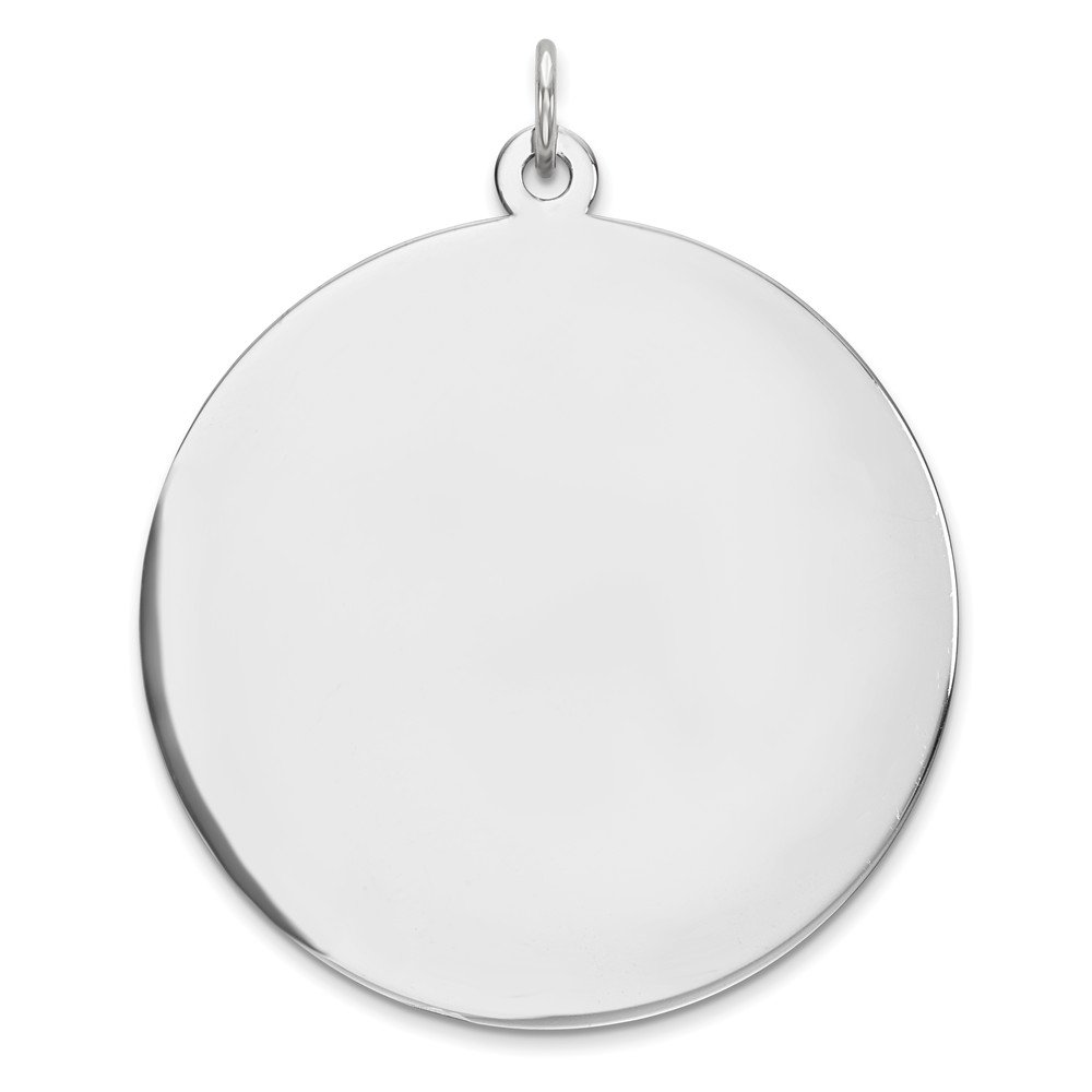 Mireval Sterling Silver Anti-Tarnish Treated Polish Front and Satin Back Disc Charm