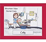 Dental Assistant Personalized Gift Custom Cartoon Print 8x10, 9x12 Magnet or Keychain