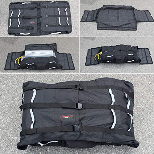 Seamax Foldable Inflatable Boat (Hull) Storage and Carrying Bag, with Sunlitec Fabric, Reflective Handles