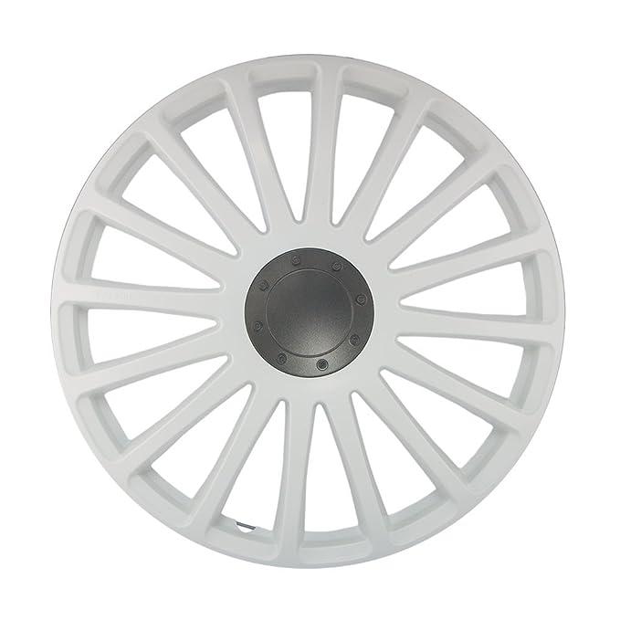 16 Pulgadas Tapacubos Grand Prix (Blanco) Mate. Tapacubos apto para casi todos los Seat Vehículos: Amazon.es: Coche y moto