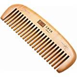 3 Different Shapes Toothed Healthy Hair Care Peach Wood Comb