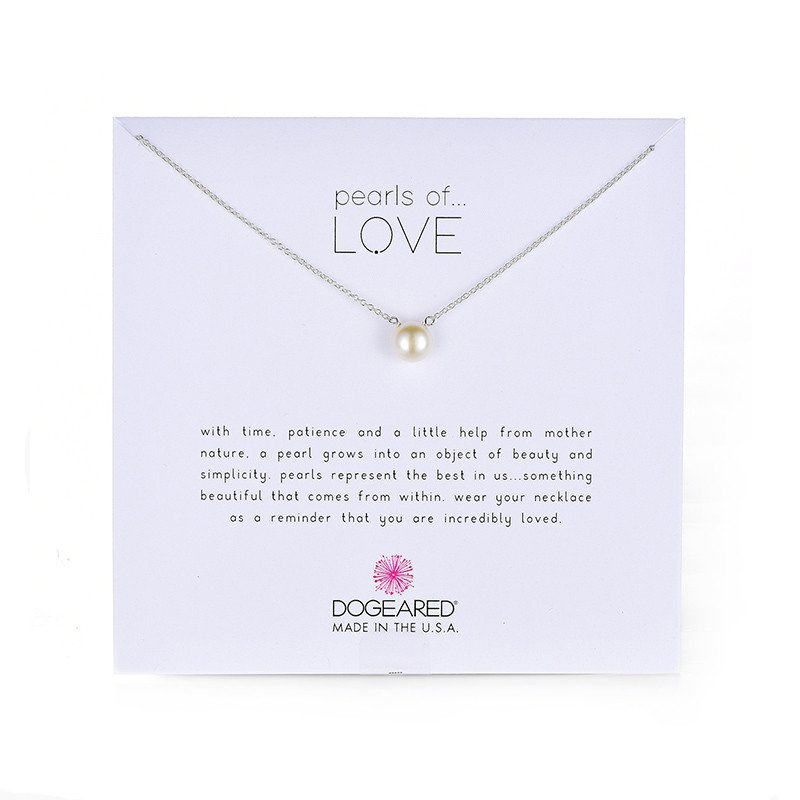 Dogeared Pearls of Love Sterling Silver and Pearl Necklace, 18'' by Dogeared (Image #2)