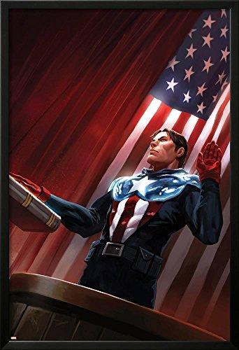 Captain America No.613 Cover: Captain America Standing in Fr