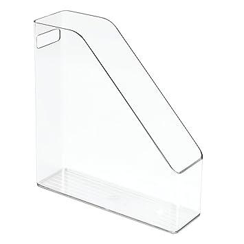 ... Revistero vertical para publicaciones, actas y cuadernos, archivador de papeles con asa para escritorio en plástico, transparente: Amazon.es: Hogar
