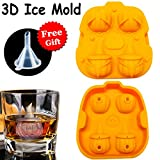 Halloween Food Molds Pumpkin Decorations Ice Molds Cube Trays for Whiskey Drinks Chocolate Cake Flexible Silicone Mold Home Party Bar Halloween Christmas Birthday Party Decor Gifts (Reusable Molds)