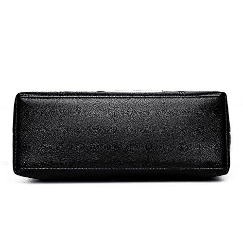 Women Bag Bag Laptop Bag Simple Messenger Shoulder Black Women's Bag Soft Zll w8tqIRZR