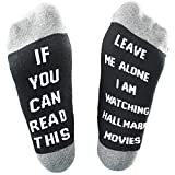 Jorbasado Men's& Women's 1 Pairs Printed Cotton Ankle Short Socks, Hallmark Movies Bamboo Socks Christmas Letters Printed Gifts