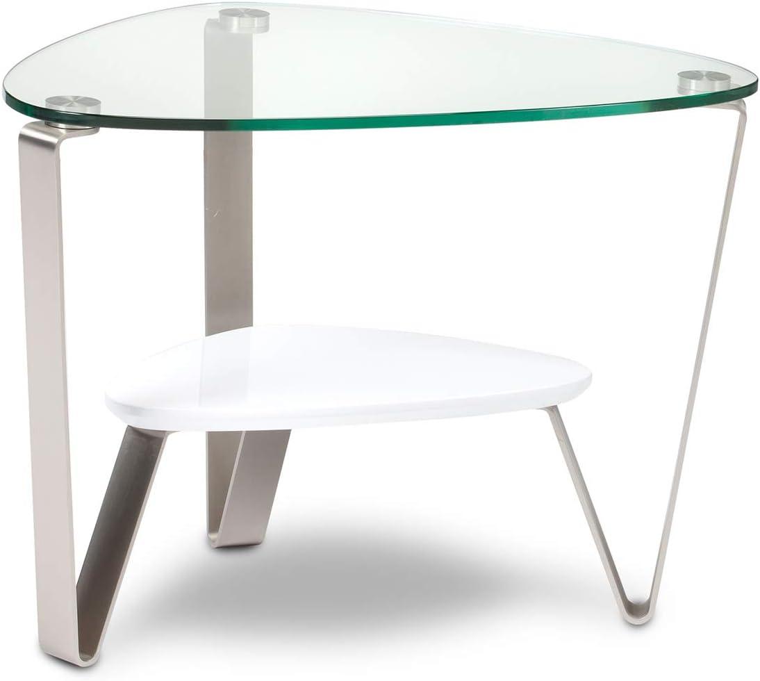 BDI Furniture Dino End Table, Gloss White