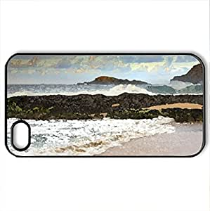Patrick Smith Photography Surfs Really Rising - Case Cover for iPhone 4 and 4s (Lighthouses Series, Watercolor style, Black)