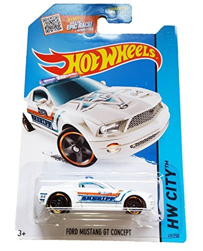Hot Wheels 2015 HW City Ford Mustang GT Concept (Police Car) 49/250, White
